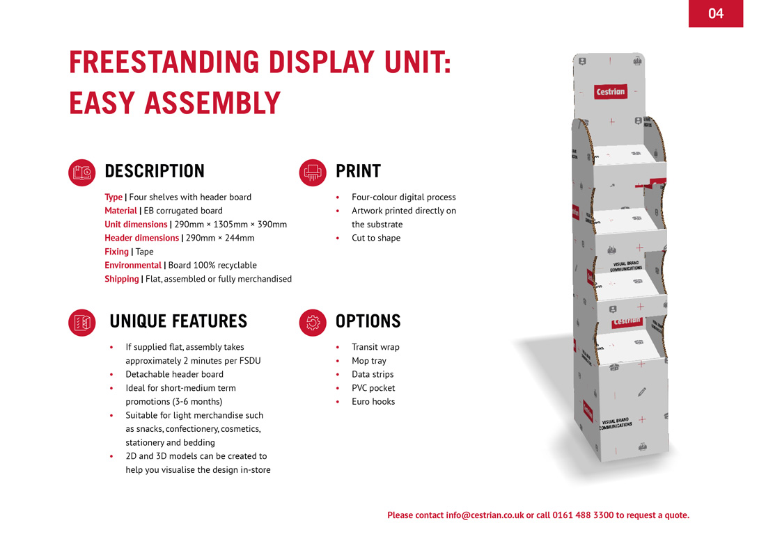 Cestrian Merchandising Guide Elbowroom Graphics