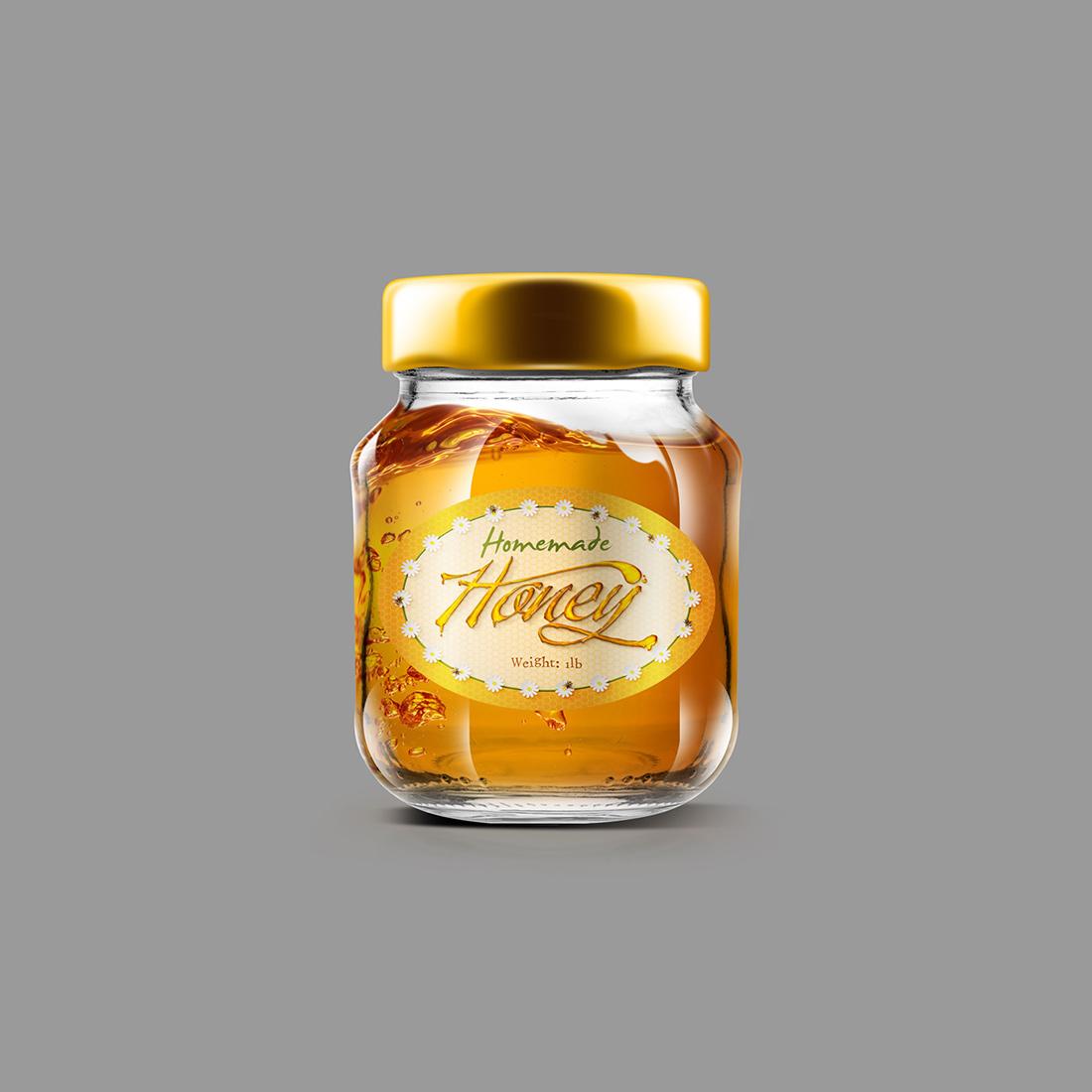 Honey Jar Label Elbowroom Graphics