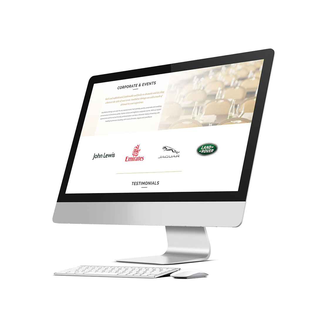 Southdene Strings Site Design Elbowroom Graphics