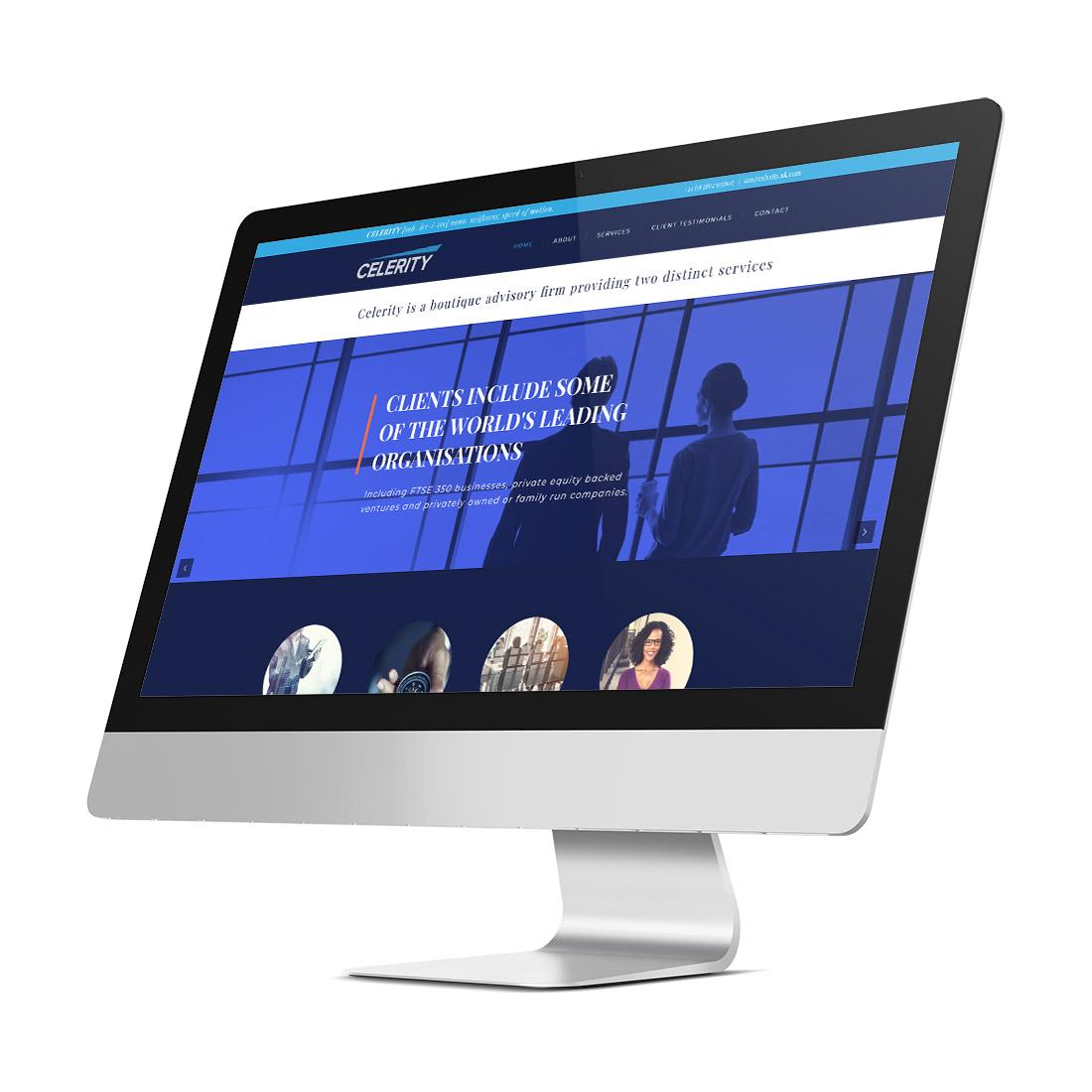 Celerity Executive Search website Elbowroom Graphics